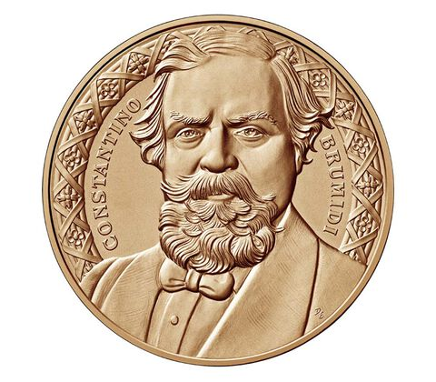 Constantino Brumidi Bronze Medal 1.5 Inch