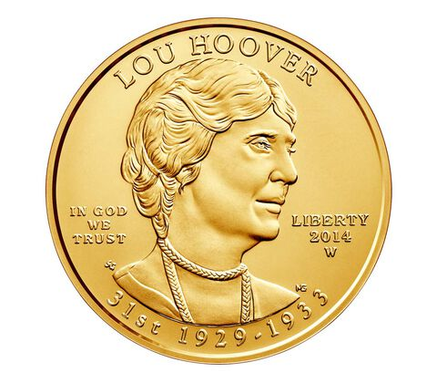 Lou Hoover 2014 First Spouse Series One-Half Ounce Gold Uncirculated Coin