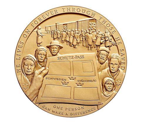 Raoul Wallenberg Bronze Medal 1.5 Inch,  image 2