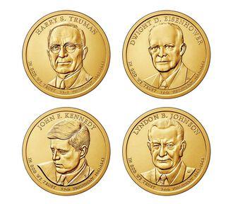 Presidential 2015 One Dollar Four-Coin Set