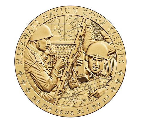 Meskwaki Nation Code Talkers Bronze Medal 3 Inch