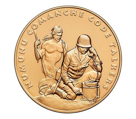 Comanche Nation Tribe Code Talkers Bronze Medal 1.5 Inch