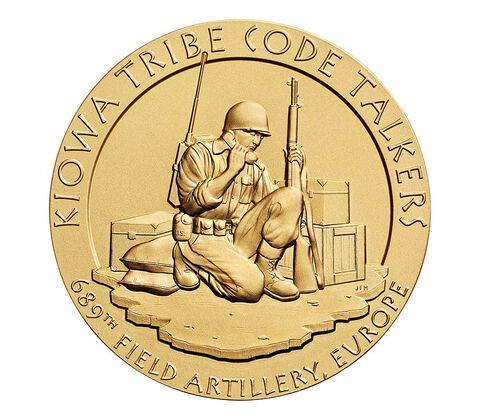 Kiowa Tribe Code Talkers Bronze Medal 3 Inch