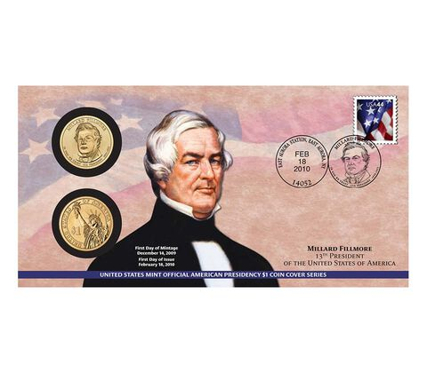Millard Fillmore 2010 One Dollar Coin Cover