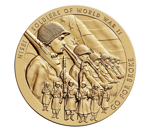 Nisei Soldiers of World War II Bronze Medal 3 Inch,  image 1