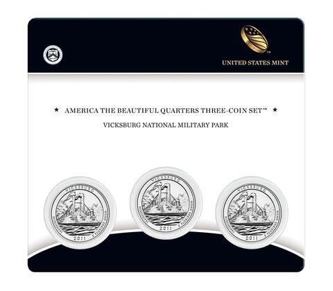 Vicksburg National Military Park 2011 Quarter, 3-Coin Set