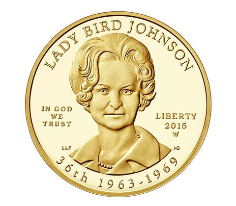 """Lady Bird"" Johnson 2015 First Spouse Series One-Half Ounce Gold Proof Coin"