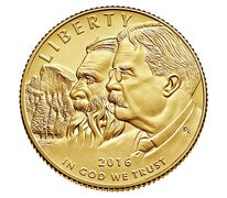100th Anniversary of the National Park Service 2016 $5 Gold Uncirculated Coin