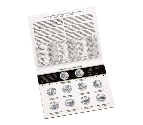 America the Beautiful 2010 Quarters Uncirculated Coin Set