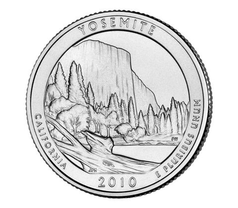 Yosemite National Park 2010 Quarter, 3-Coin Set,  image 3