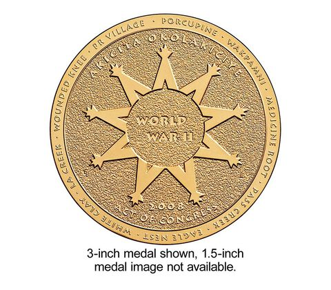 Oglala Sioux Tribe Code Talkers Bronze Medal 1.5 Inch,  image 2