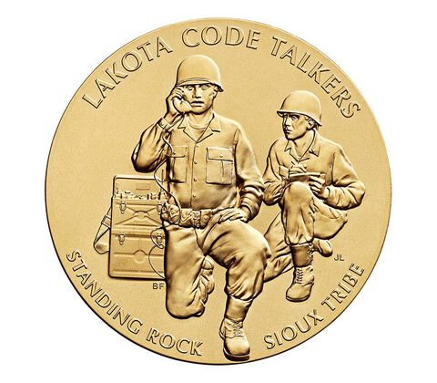 Standing Rock Sioux Tribe Code Talkers Bronze Medal 3 Inch