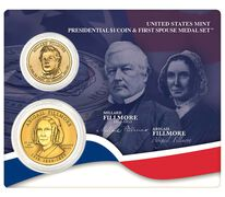 Millard Fillmore 2010 Presidential $1 Coin & First Spouse Medal Set
