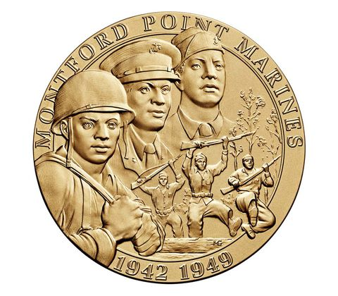 Montford Point Marines Bronze Medal 3 Inch,  image 1