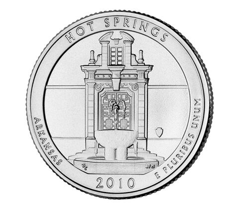 Hot Springs National Park 2010 Quarter, 3-Coin Set,  image 3