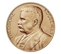 Theodore Roosevelt Bronze Medal 1 5/16 Inch