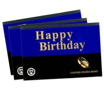 Happy Birthday Gift Sleeves, One-Lens Three-Pack