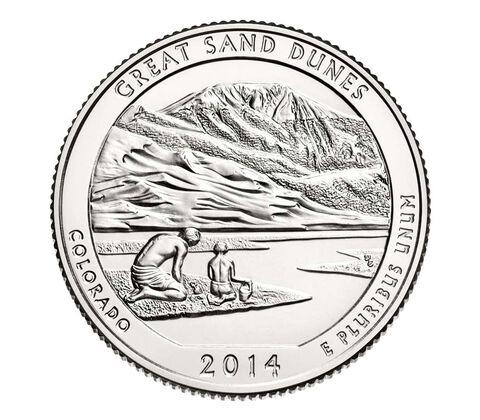 Great Sand Dunes National Park 2014 Quarter, 3-Coin Set,  image 4