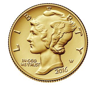 Mercury Dime 2016 Centennial Gold Coin