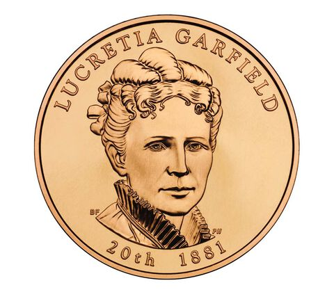 Lucretia Garfield 2011 Bronze Medal 1 5/16 Inch