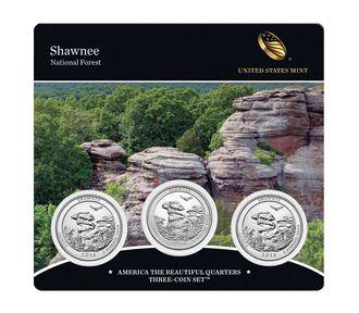 Shawnee National Forest 2016 Quarter, 3-Coin Set