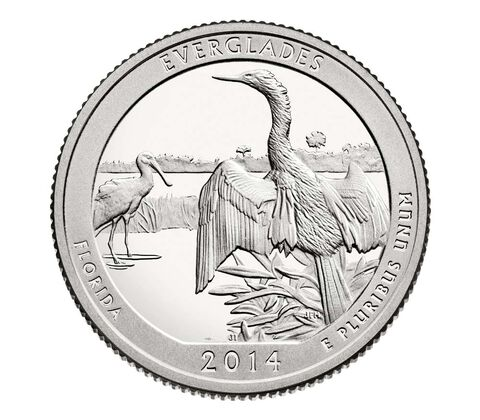Everglades National Park 2014 Quarter, 3-Coin Set,  image 3