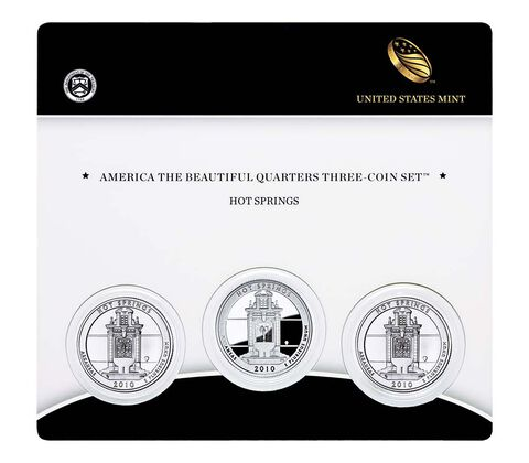 Hot Springs National Park 2010 Quarter, 3-Coin Set