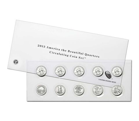 America the Beautiful 2013 Quarters Circulating Coin Set