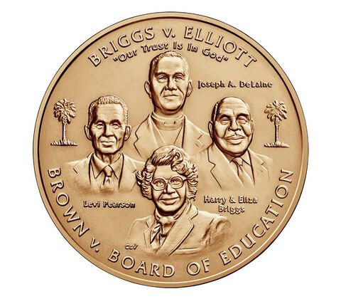 Brown vs. Board of Education Bronze Medal 1.5 Inch