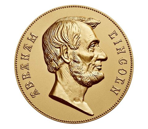 Abraham Lincoln Bronze Medal 3 Inch