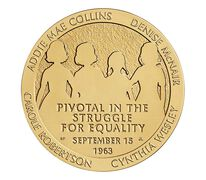 16th Street Baptist Church Bombing Victims Bronze Medal 1.5 Inch