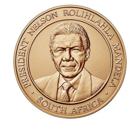 Nelson Mandela Bronze Medal 1.5 Inch