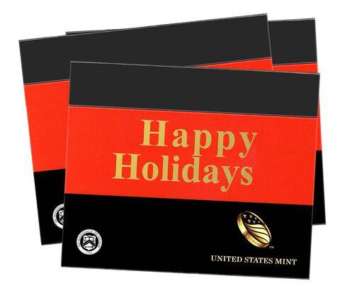 Happy Holidays Gift Sleeves, Three-Lens Three-Pack
