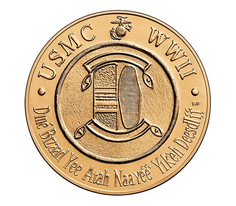 Navajo Code Talkers Bronze Medal 1.5 Inch,  image 2