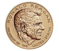 Ronald Reagan Bronze Medal 1 5/16 Inch