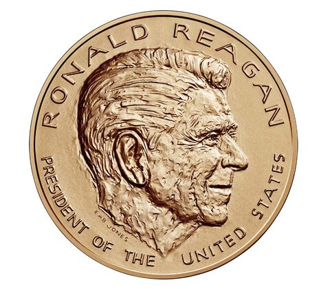 Ronald Reagan Bronze Medal 1 5/16 Inch
