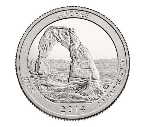 Arches National Park 2014 Quarter, 3-Coin Set,  image 3