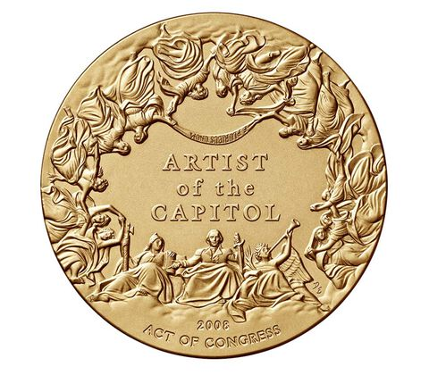 Constantino Brumidi Bronze Medal 3 Inch,  image 2