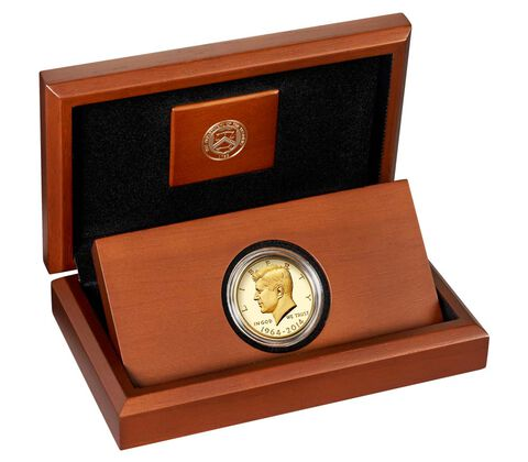 50th Anniversary Kennedy 2014 Half-Dollar Gold Proof Coin,  image 3