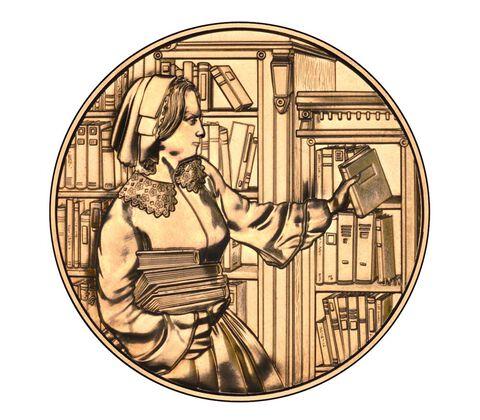 Abigail Fillmore 2010 Bronze Medal 1 5/16 Inch,  image 2