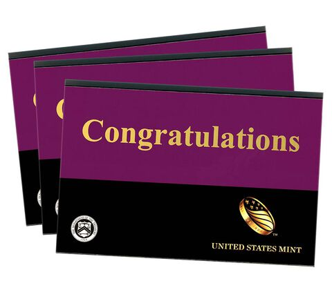 Congratulations Gift Sleeves, One-Lens Three-Pack