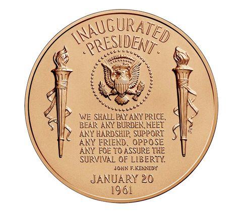 John F. Kennedy Bronze Medal 1 5/16 Inch,  image 2