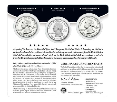 Perry%27s Victory and International Peace Memorial 2013 Quarter, 3-Coin Set,  image 2