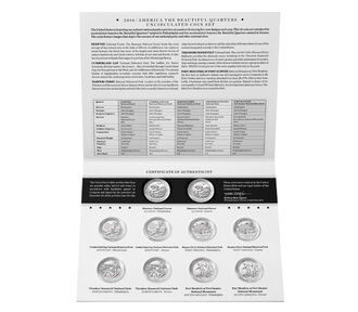 America the Beautiful Quarters 2016 Uncirculated Coin Set