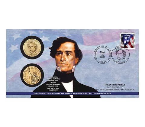 Franklin Pierce 2010 One Dollar Coin Cover