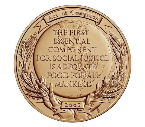 Dr. Norman Borlaug Bronze Medal 1.5 Inch,  image 2
