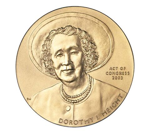 Dorothy Height Bronze Medal 3 Inch