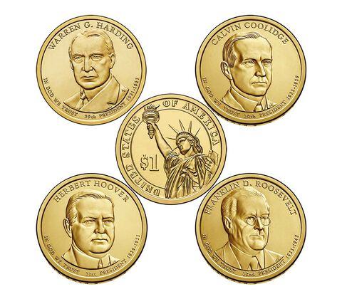 Presidential 2014 One Dollar Coin Uncirculated Set,  image 3