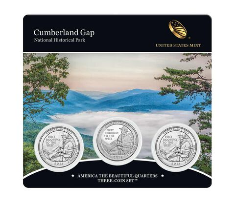 Cumberland Gap National Historical Park 2016 Quarter, 3-Coin Set