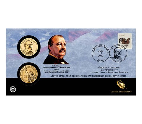 Grover Cleveland 2012 One Dollar Coin Cover